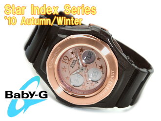 Pat Casio baby G foreign countries model lady's a; diwatch pink gold bezel pink dial lam-like enamel brown urethane belt BGA-104B-5B fs3gm
