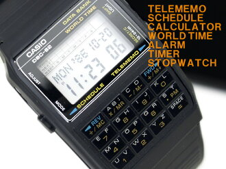 Casio data bank foreign countries model digital watch black urethane belt DBC-62-1 fs3gm