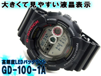+ Casio overseas model G shock new digital watch urethane belt GD-100-1 A