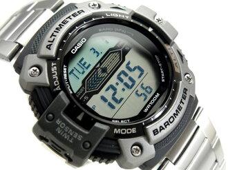 + CASIO Casio OUTGEAR out gear overseas model digital watch stainless steel belt SGW-300HD-1AVDR