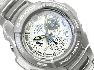 CASIO G-SHOCKカシオ 逆輸入Gショック ChroographWrist watch WhiteDial Stainless steelBelt G-1010D-7A