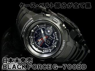 CASIO G-SHOCK BLACKFORCE カシオ逆輸入Gショック 海外Model アナデジWrist watch IPBlack BlackDial Stainless steelBelt G-700BD-1AVDR