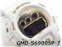 G-SHOCK Gショック ジーショック スープラ 限定モデル Sシリーズ カシオ デジタル 腕時計 ホワイト ゴールド ドット柄 GMD-S6900SP-7【ポイント3倍!!】