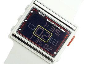 【CASIOPoptone】カシオポップトーンバイブアラーム搭載レディース腕時計ブラック文字盤ホワイトウレタンLDF10-1AVDR