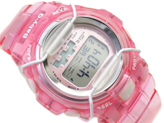 + Casio baby G international model ladies digital watch ピンクメタル dial skeleton pink polyurethane belt BG-1001-4A