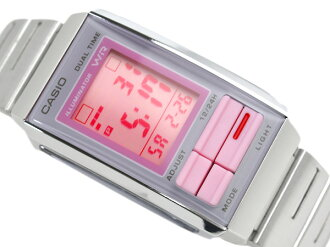 Casio overseas model Futurist ladies digital watch gray × ピンクコンビ color pink dial-la-201W-4 2
