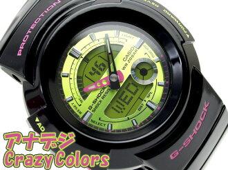 CASIO G-SHOCK Crazy Colorsカシオ 逆輸入海外ModelGショック アナデジWrist watch クレイジーカラーズ Black×Green×Pink GreenLiquid crystal エナメルBlackUrethaneBelt AW-582SC-1A