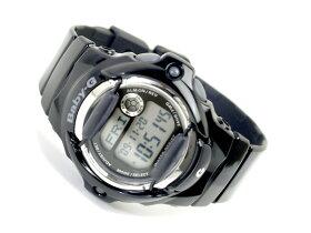【CASIOBaby-G】カシオベビーG海外専売モデルレディースデジタル腕時計ブラックダイアルブラックエナメルウレタンベルトBG-169R-1