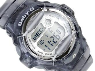 Casio baby G overseas monopoly model ladies Digital Watch Silver Dial Skelton grey polyurethane belts BG-169R-8
