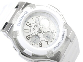 CASIO Baby-Gカシオ ベビーG 海外専売Model Lady'sアナデジWrist watch WhiteDial WhiteUrethaneBelt BGA-110-7B