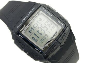 Casio databank overseas monopoly model unisex digital watch black x grey polyurethane belt DB-36-1AVDF