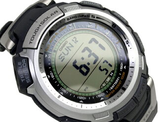 And protrek tough solar triple sensor with digital watch black urethane belts overseas model PRG-110-1