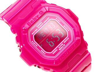 Casio baby G overseas model digital watches Candy Colors キャンディカラーズ pink dial pink polyurethane enamel BG-5601-4