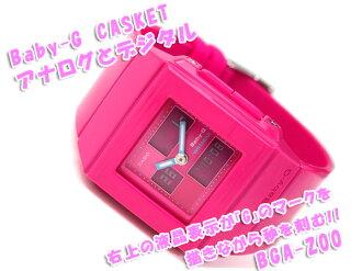 CASIO Baby-G Casketカシオ ベビーG 逆輸入海外Model Lady'sアナデジWrist watch カスケット Pink エナメルUrethaneBelt BGA-200-4E