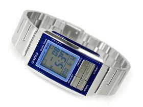 【CASIOFUTURIST】カシオフューチャリストレディースデジタル腕時計ネイビー×ライトブルーコンビカラーライトブルーダイアルLA201W-2AUDF