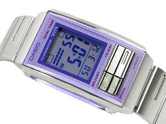 + Casio overseas model Futurist ladies digital watch light Purple / Purple light purple dial-LA-201W-6A