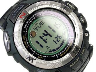 Digital watch multi-field line khaki X black black urethane belt PRW-1500-1V mounted with Casio foreign countries model proto Lec triple sensor