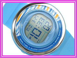 Model pop tone Lady's watch light blue accent color orange urethane belt LDF-30-2B fs3gm for Casio Japanese non-release foreign countries