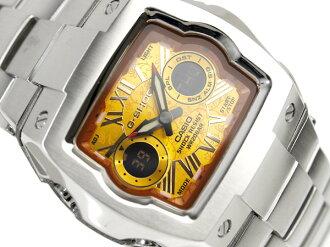 CASIO G-SHOCKカシオ Gショック アドバンスドデザイン 海外Model C3アナデジWrist watch OrangeフローリッシュDial Stainless steelMetal belt G-011AD-4B