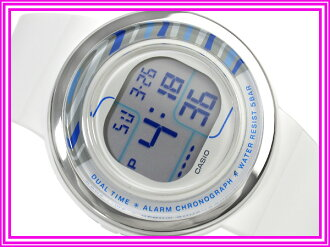 Casio Japan not released for overseas models pop tone ladies watch white presenting color Combi blue urethane belt LDF-30-7B