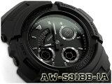 G-SHOCK Gショック ジーショック 逆輸入海外モデル CASIO アナデジ 腕時計 マット オールブラック AW-591BB-1ADR AW-591BB-1A