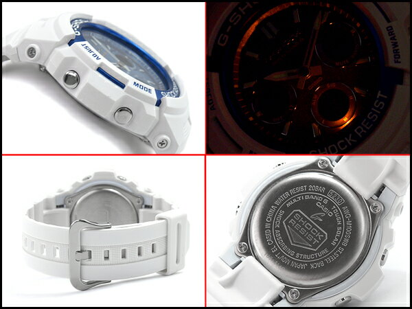 G-SHOCK Gショック 逆輸入海外モデル 限定 CASIO カシオ アナデジ 電波 ソーラー 腕時計 ホワイト ライトブルー AWG-M100SWB-7A