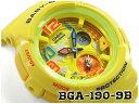 CASIO BABY-G ビーチ・トラベラー・シリーズ 逆輸入海外モデル カシオ ベビーG アナデジ 腕時計 イエロー BGA-190-9BDR BGA-190-9B