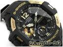 G-SHOCK Gショック GRAVITYMASTER グラビティマスター 逆輸入海外モデル CASIO カシオ ツインセンサー アナデジ 腕時計 ゴールド ブラック GA-1100-9GDR GA-1100-9G