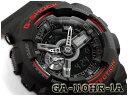 G-SHOCK Gショック 逆輸入海外モデル ブラック&レッドシリーズ 限定 カシオ アナデジ 腕時計 ブラック レッド GA-110HR-1A
