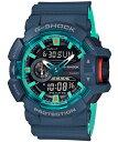G-SHOCK Gショック ジーショック カシオ CASIO アナデジ 腕時計 ネイビー ターコイズブルー GA-400CC-2A...