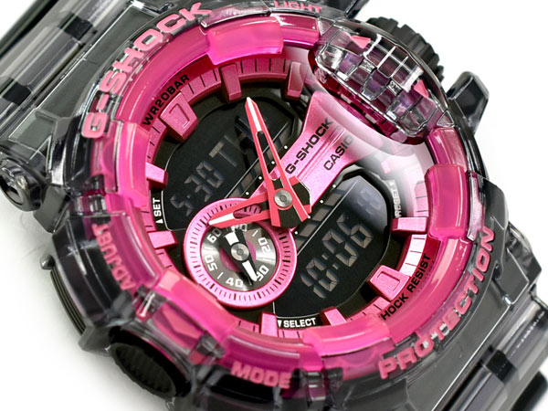 腕時計, メンズ腕時計 G-SHOCK G Clear Skeleton CASIO GA-400SK-1A4DR GA-400SK-1A4