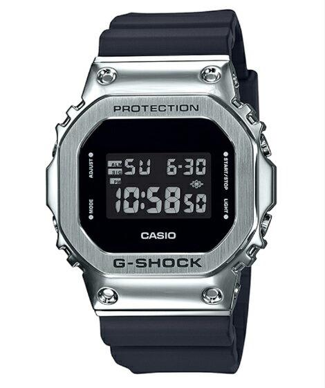 G-SHOCKGショックジーショック5600メタルカシオCASIOデジタル腕時計ブラックシルバーGM-5600-1JF 国内正規