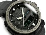 プロトレック PROTREK カシオ CASIO 逆輸入海外モデル トリプルセンサー搭載 ソーラー アナデジ 腕時計 ブラック ブルー PRG-650Y-1CR PRG-650Y-1