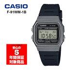 CASIO F-91WM-1B チプカシ メンズ レディース 子ども用 腕時計 デジタル ブラック グレー 逆輸入海外モデル