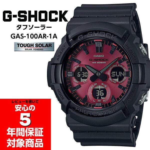 腕時計, メンズ腕時計 G-SHOCK G Black and Red Series CASIO GAS-100AR-1A