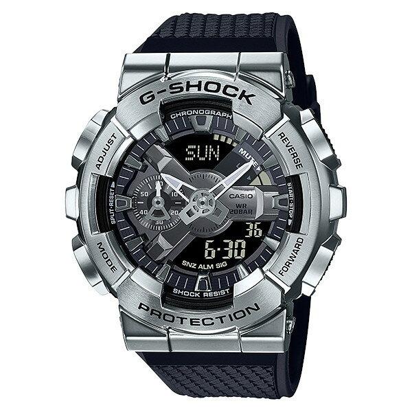 G-SHOCKGM-110-1AMetalCoveredアナデジメンズ腕時計ブラックシルバーCASIOカシオGショックジーショッ