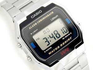 CASIO カシオ ユニセックス腕時計 シルバー A163WA-1【ポイント2倍!!+全商品送料無料!!】【CAS...