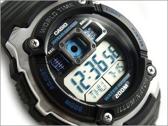 CASIO Casio reimport foreign model SPORTS GEAR sports gear mens digital watch black × blue urethane belt AE-2000W-1AVDF