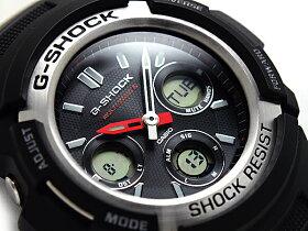 【送料無料!+ポイント2倍以上!!】【CASIOG-SHOCK】カシオ逆輸入Gショック海外モデルソーラー電波アナデジ腕時計ブラックウレタンベルトAWG-M100-1ADR