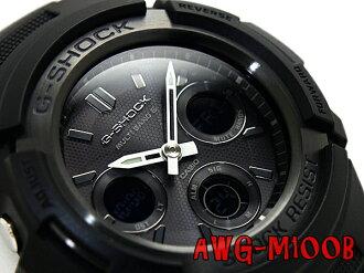 + Casio reimport G shock international model solar radio an analog-digital watch black urethane belt AWG-M100B-1ADR