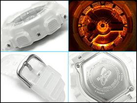【CASIOBaby-G】カシオベビーG海外逆輸入モデルレディースアナデジ腕時計シルバー×クリアカラーハーフスケルトンベルトBA-110-7A2DR