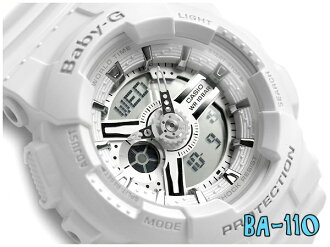 Pat Casio baby G foreign countries reimportation model lady's a; diwatch white X silver-white urethane belt BA-110-7A3DR