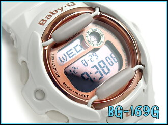 Casio baby G overseas imports model pink series digital ladies watch white / pink BG-169G-7DR