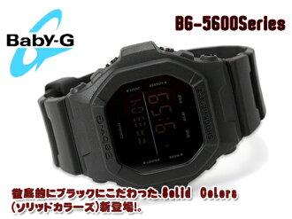 + CASIO Casio baby G baby-g Solid Colors ソリッドカラーズ digital watch-all black Matt BG-5606-1DR BG-5606-1