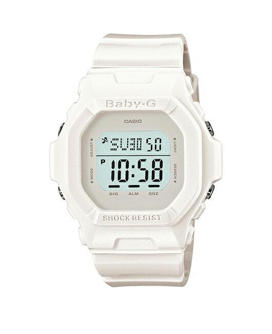 + Casio baby G watches baby g baby-g ベビージー BASIC series Basic Solid Colors ソリッドカラーズ digital white BG-5606-7JF