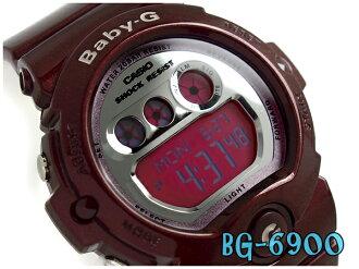 Baby G Baby-G Casio CASIO baby-g ベビージーデジタル watch metallic silver dial pink Bordeaux BG-6900-4JF fs3gm