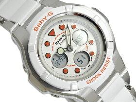 CASIOBaby-GカシオベビーGCompositeLineアナデジ腕時計オレンジホワイトBGA-123-7A2DR