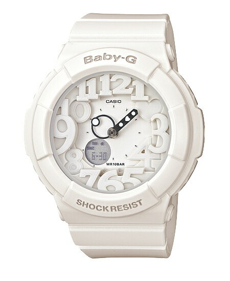 Baby G baby-g Casio CASIO neon dial series an analog-digital watch white BGA-131-7BJF