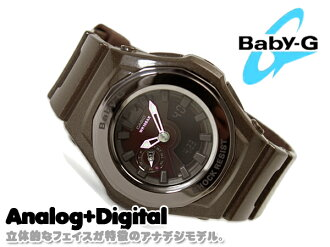 + CASIO Casio baby G baby-g 3D face an analog-digital watch brown BGA-141-5BDR BGA-141-5B