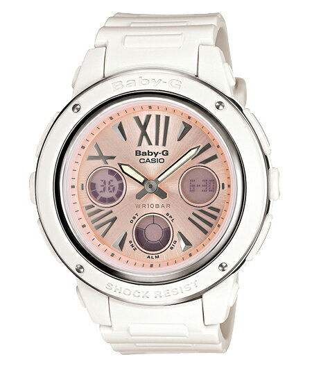 Baby G Baby-G Casio CASIO アナデジ watch pink white BGA-152-7B2JF fs3gm
